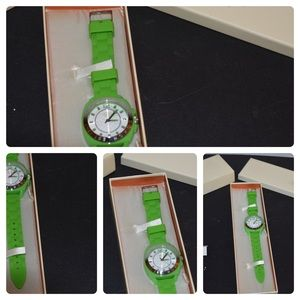 LIME GREEN WATCH BY COACH